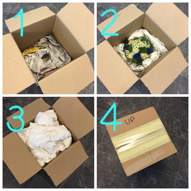 De Bruyn Bloempreparatie - Stappenplan verpakken boeket